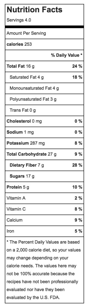 nutrition facts apple nachos