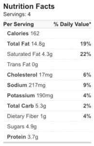 Peach Salad Nutrition